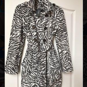 Guess Animal Print Trench Coat/ Rain Coat